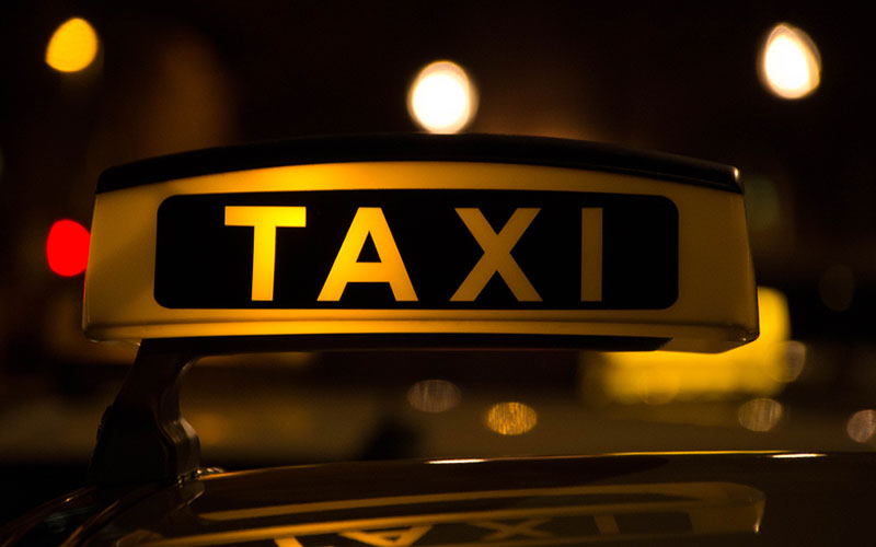 Taxis at Corfu airport